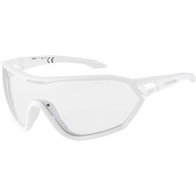 Alpina S-Way VL+ Okulary rowerowe, white matt/black mirror